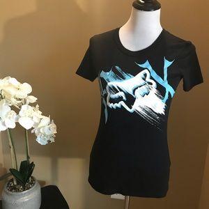Fox Racing Black Logo Graphic T-Shirt Small